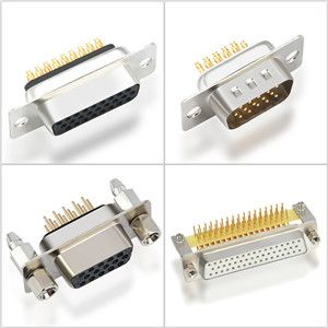 high density d-sub,db pcb d type connectors manufacturer 15,26,44,50,62,78pin