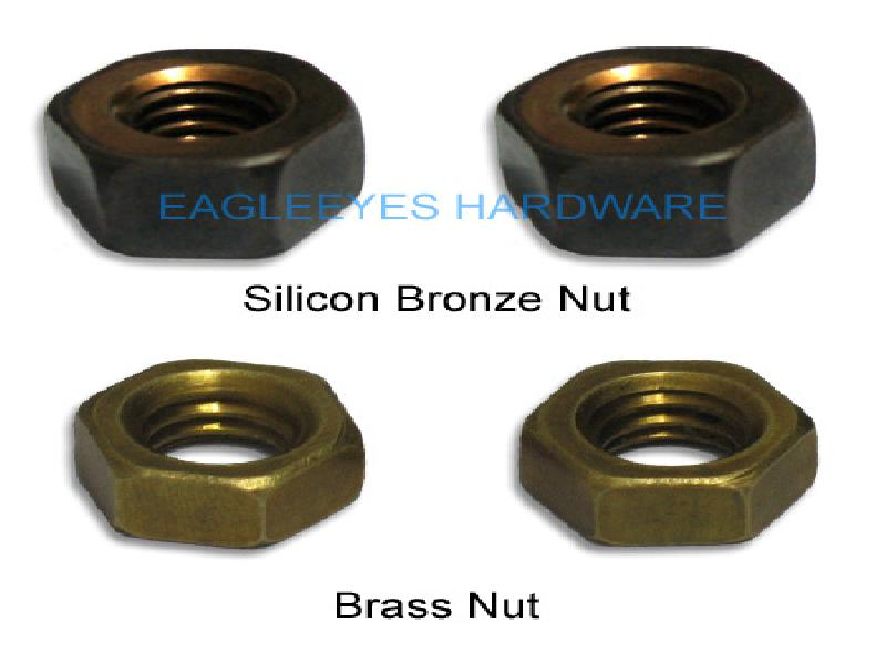 Brass and Silicon bronze nuts