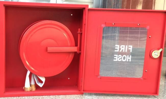 Asenware fire hose reel and cabinet