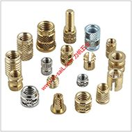 Brass knurled threaded insert nut for plastic shell