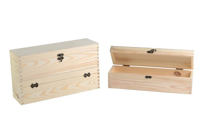 Chest Trunk 1 bottle box/natural wood color