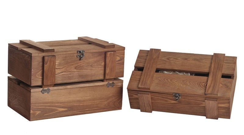 Rung Trunk 2 bottles box/brown staining