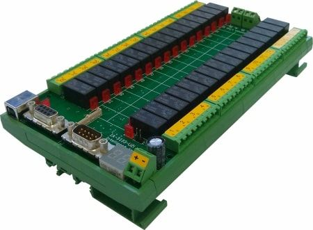Dual / Quad Pole Pluggable 32-Channel Multiplexer USB and RS-232 Controlled