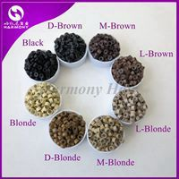 Wholesale 1000pcs/bottle 5*3*3mm 8 colors Aluminium Silicone Lined Micro Rings/Links/Beads for Feather Human Hair Extensions