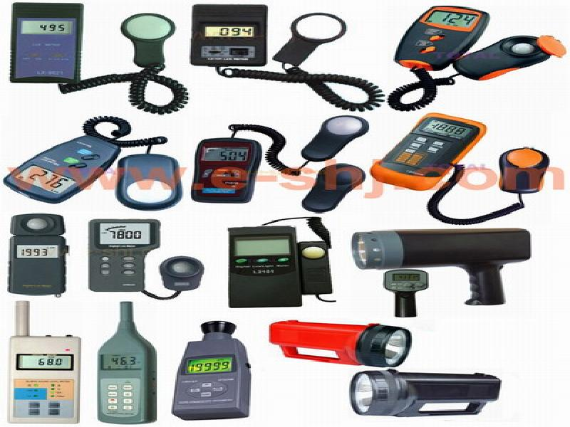 light meter, lux meter, sound level meter, stroboscope