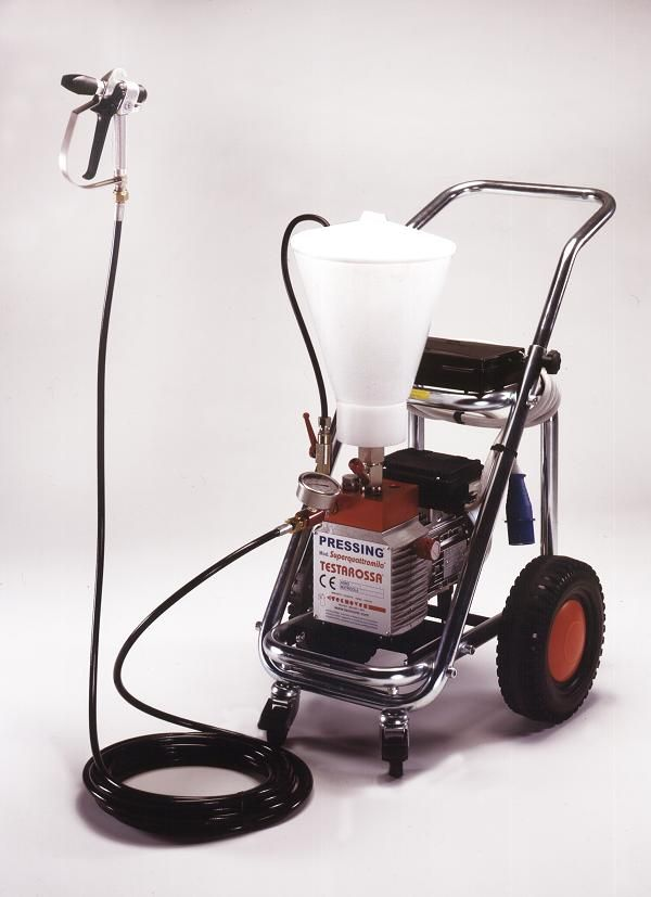 Airless Paint Sprayer TECNOVER mod. Testarossa Superquattromila with gravity tank