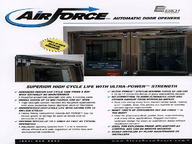 AIR FORCE Autoamatic Door Openers