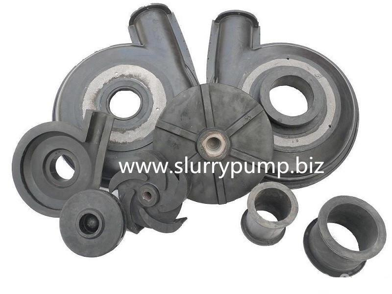 Slurry Pump spares Rubber liner Impeller