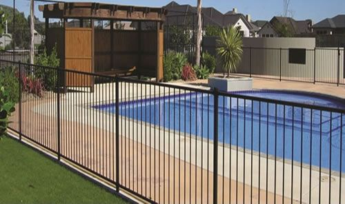 Black Vinyl Coated Steel Fence