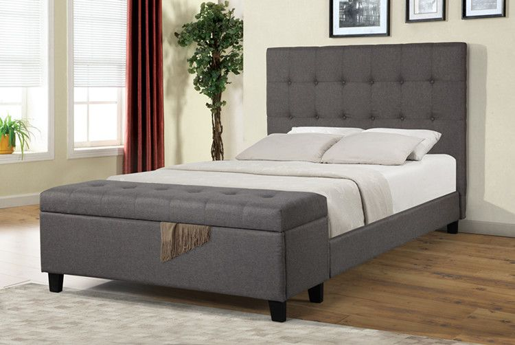 Furniture bed frame with headboard king size bed with storage full size
