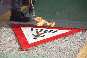 Preformed thermoplastic road-marking