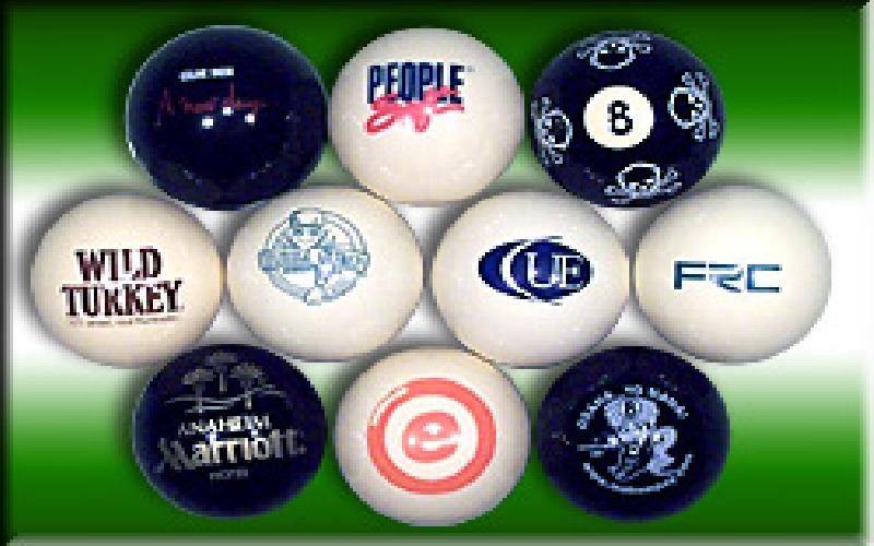 CUSTOM Logoed Billiard Balls