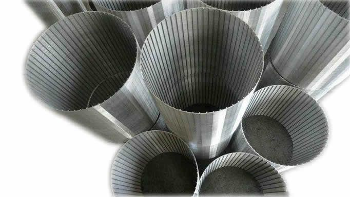 wedge wire type filter element