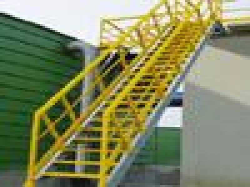 Handrail And Caged Ladder System