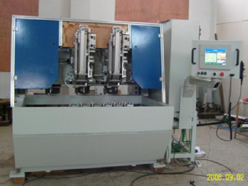 5-axis brush drilling and filling machine