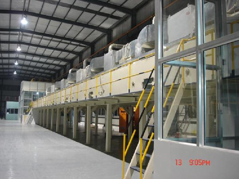Aluminum coil coating production line