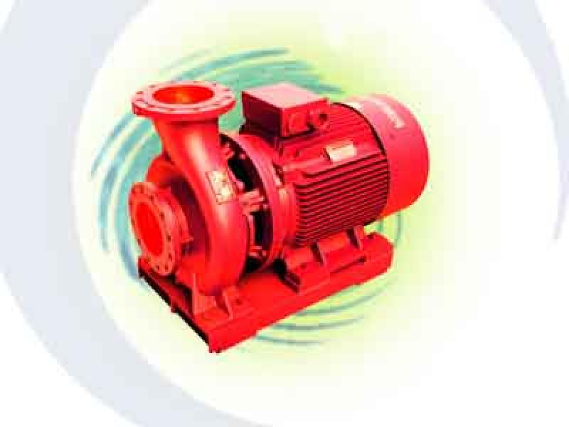 Horizontal single-stage single-suction fire-fighting pump