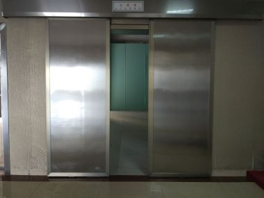 X-ray Room Stainless Steel Lead Free Automatic Sliding Double Leaf Radiation Protective Door