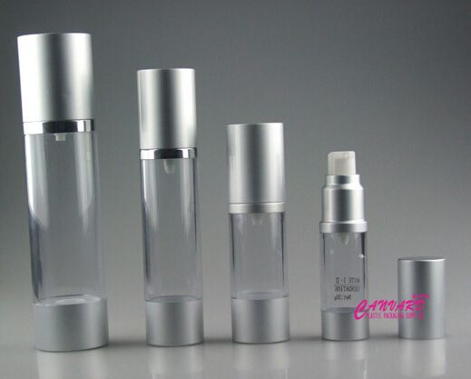 Silver matte airless pump bottle 15ml,30ml,50ml