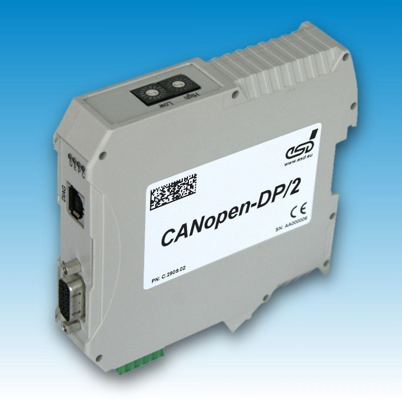 CANopen-DP/2 - Gateway CANopen® to PROFIBUS-DP® Slave