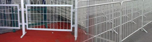 Square Tube or Round Tube Framed Infill Railing Panels for Temporary Control