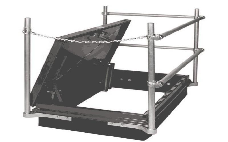 Rooftop Hatch Safety Railing